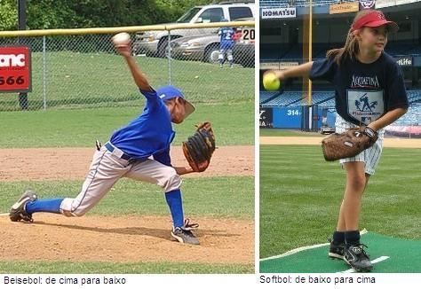 Diferença entre arremesso beisebol softbol